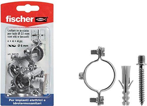 FISCHER - Collare distanziatore per tubi, 504629,Confezione da 4 pz