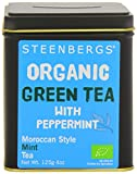 Steenbergs Organic Green Tea with Peppermint 125 g (Pack of 4)
