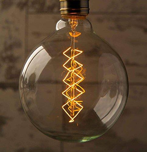 XL Spiral Globe Vintage Light Bulb Filament Edison Style E26 Screw 40W 1