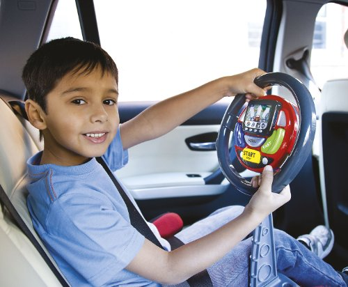 Car Seat Toy Steering Wheel : Little driver casdon sat nav kids car steering interact