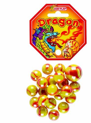 Kim'Play - 500825 - Jeu de Plein Air - 20 Billes  +  1 Calots -  Dragon