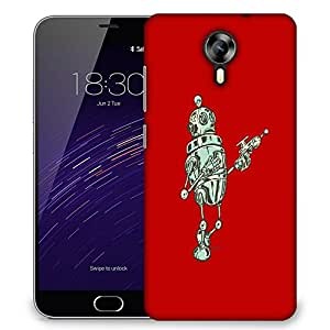 Snoogg Small Robot Designer Protective Back Case Cover For Meizu M3 Note