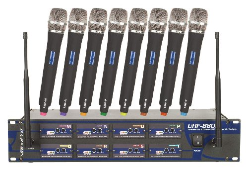 Vocopro Uhf-8800 Handheld Wireless System, (614.15 - 694.11 Mhz)