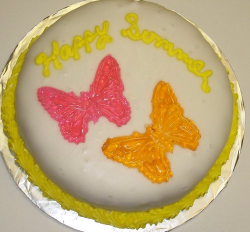 Carrot Decorated Cake Single Layer 8