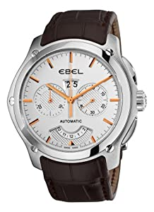 Ebel Men's 9305F71/6335165 Classic Hexagon Chronograph Silver Dial Watch from Ebel