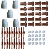 Plasmaschneider Ersatzteilset 65 Teile lang Inverter PT-31 Elektroden - Keramikdüsen - Keramikringe - Schneiddüsen