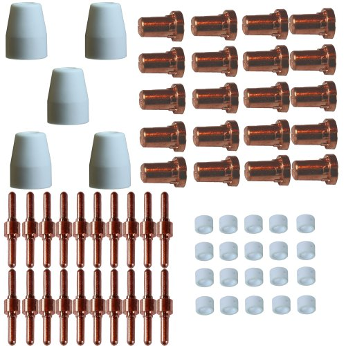 Plasmaschneider-Ersatzteilset-65-Teile-lang-Inverter-PT-31-Elektroden-Keramikdsen-Keramikringe-Schneiddsen