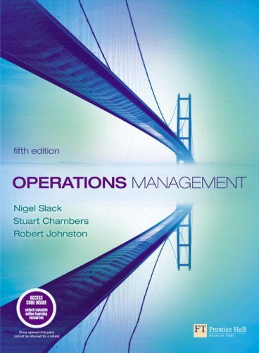 Operations Management with Companion Website with GradeTracker Student Access Card (5th Edition)
