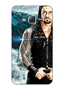 Make My Print Roman Reigns Printed Blue Hard Back Cover For Samsung Z1