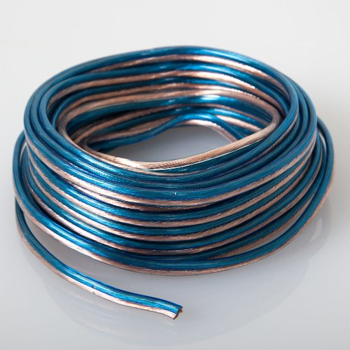 Audiotek - At-Spw16Ga/25B - Car Vehicle 16 Gauge Speaker Wire - 25 Feet Blue