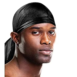 MayaBeauty Satin Du-Rag, Comfortable, ultra stretch, stretchable, fits all, one size, long
