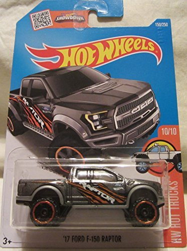 Hot Wheels, 2016 HW Hot Trucks, `17 Ford F-150 Raptor [Dark Gray] Die-Cast Vehicle #150/250