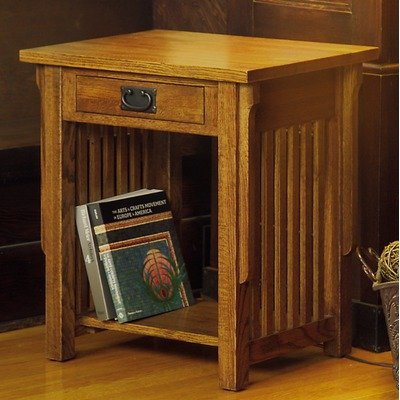 Image of CF Oakton American Craftsman Design Mission End Table in Medium Cherry ACD-CT-2418 (ACD-CT-2418)