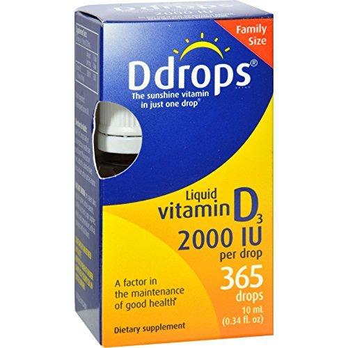DDROPS VIT D,2000 IU,365 DROPS, .34 FZ (Ddrops 2000 compare prices)