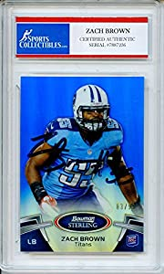 Zach Brown Autographed Tennessee Titans Encapsulated Trading Card - Certified Authentic
