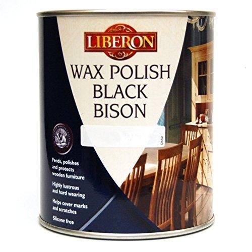 Liberon Black Bison Fine Paste Wax Liter Medium Oak (Liberon Steel Wool 0000 compare prices)