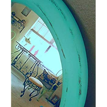 Oval Mirror, Upcycled Vintage, Large Oval Wall Mirror, Distressed Mirror, Mint Green, Hand Painted, Made of Solid Wood, Shabby Chic Mirrors, Modern Mirrors, Wall Decor