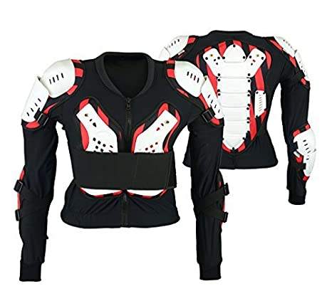 Adulte Motocross Blanc Armure Corporelle Bikequad Protection Enduro Bionique Quad Veste