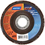 Norton Blaze R980 Abrasive Flap Disc, Type 29, Round Hole, Fiberglass Backing, Ceramic Aluminum Oxide