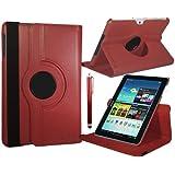 Galaxy Tab 2 7.0 Schutzhülle für Galaxy Tab 2 7.0 (P3100/P3110) - Rot 360° drehbare Hülle aus Kunstleder. Aufstellmöglichkeiten: Hoch- oder Querformat. Gratis dazu: Touch Pen (Stift) und Schutzfolie von Stuff4® ***INKOMPATIBEL MIT GALAXY TAB 3 7***