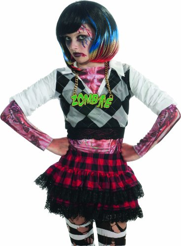 Rubie's Costume Zombie Colorful Streaks Costume Wig, Multi, One Size - 1