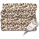 Sunbeam Electric Heated Fleece Warming Throw Blanket Cheetah