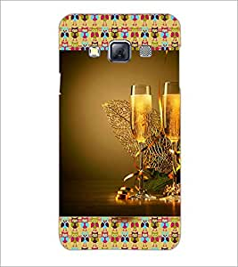 PrintDhaba Wine Glasses D-3612 Back Case Cover for SAMSUNG GALAXY A3 (Multi-Coloured)