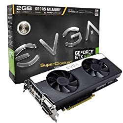 EVGA GeForce GTX 680 SC Signature2/Dual Fan/2048MB GDDR5 Dual Dual-Link DVI/mHDMI/DP/SLI Graphics Card (02G-P4-2687-KR)