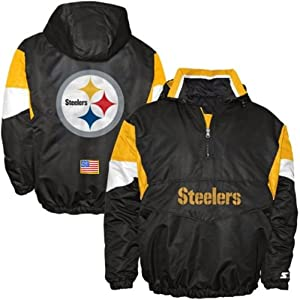 Pittsburgh Steelers NFL Youth Team Color Half Zip Pullover Breakaway Starter Jacket... by Starter