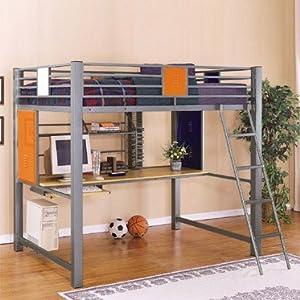 Teen Trends Full Loft Study Bunk Bed