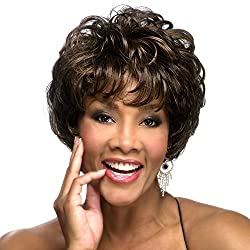Vivica A. Fox Joleen V Synthetic Fiber, Ps Cap Wig In Color 1 B