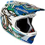 Troy Lee Designs TLD D3 D-3 Helmet Bicycle / BMX - Medusa Blue Chrome Composite Size Adult Large (L) *LIMITED EDITION* / 0441-0310