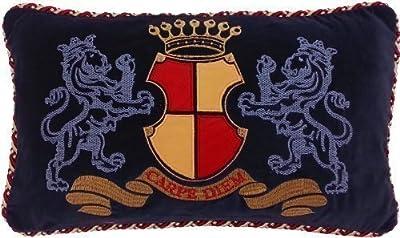 Kissenbezug 30cm x 50cm 'Carpe Diem' Bestickt 100% Baumwolle Samt von PCJ Supplies - Gartenmöbel von Du und Dein Garten