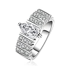 buy Hot Fashion Jewelry 925 Silver Austrian Crystal Beautiful Finger Ring(O)