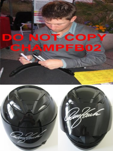 Denny Hamlin, Nascar, Driver, Signed, Autographed, Full Size Helmet, a COA and the Proof Photos of the Denny Signing the Helmet Will Be Included
