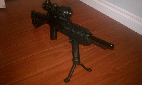 For Sale! Military Law Enforcement Steel Inserted Leg Mil Spec Polymer Composite Grip+Bipod+side Rai...