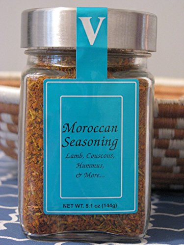 Moroccan Spice Blend - Victoria Taylor's 5.1 Oz Jar - Authentic Certified Organic Mix of essential Middle Eastern Seasonings for all your favorite Recipes, this Rub is excellent on Lamb, Chicken, in Couscous and Hummus - You've never tasted a Stew until you've tasted it with this!