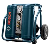 Bosch CET4-20W 2.0 HP 4 Gallon Oil-Lube Angled Twin Tank Wheeled Air Compressor