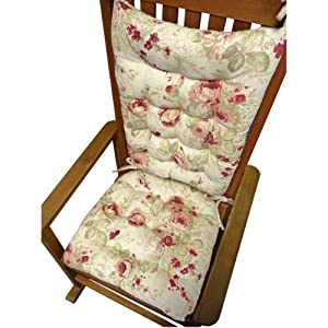 Rocking Chair Cushion Set Chablis Shabby Chic Floral Print R