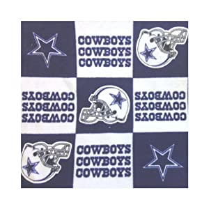 ArtOFabric Fleece Printed Dallas Cowboys Checkered Print Blanket 58 Inch By 36 Inch at Sears.com