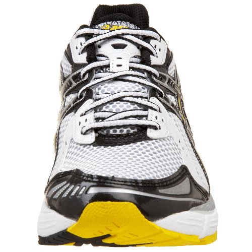 asics men's gel 1150 running shoe,whiteblackyellow,9 m