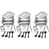Party Essentials UPK-33 33 Piece Party Serving Kit, Includes Chafing Kits and Serving Utensils