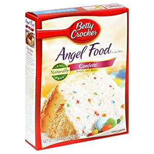 Betty Crocker Fat Free Angel Food Cake Mix Confetti 1675-ounce Boxes Pack Of 12 from Betty Crocker