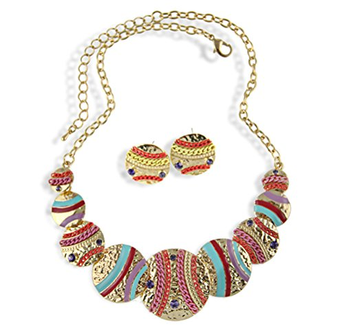 SunIfSnow Personalized Noble Multicolor Coin Mosaic Diamond Necklace 2