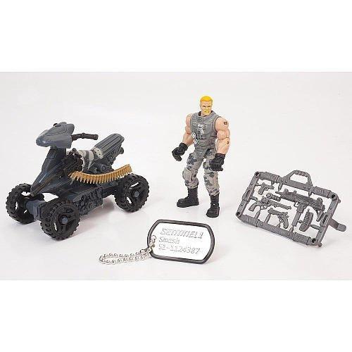 True Heroes Sentinel 1 Action Figure and Vehicle - Smash - ATV