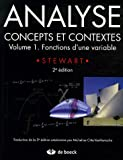 Analyse, concepts et contextes : Volume 1, Fonctions d'une variable