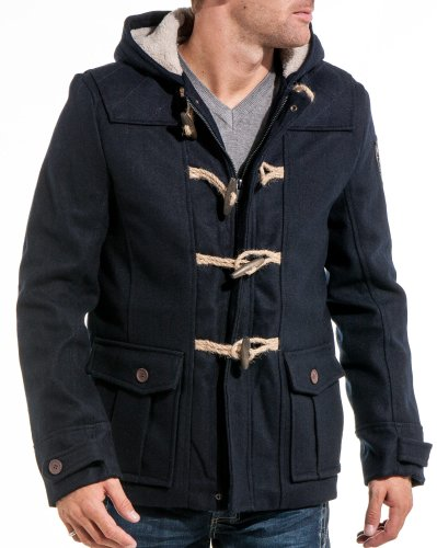 Deeluxe jeans - Man jacket blue duffle coat fashion - Color: Blue Size: XL
