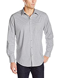 Van Heusen Men's Long Sleeve Traveler Stretch Non Iron Shirt, Bright White, Small