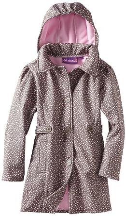 (3折)Pink Platinum Soft Shell Trench女孩咖啡/紫色连帽风衣$16.50
