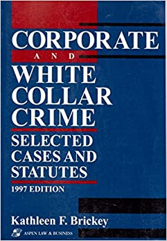 white collar crime book outline White collar crime 2501 aba journal white collar crime articles former aba employee is accused of cellphone theft scheme that cost the association nearly $13m former aba employee karen m healy of chicago has been charged with felony theft by deception for the alleged theft of cellphones and ipads worth nearly.